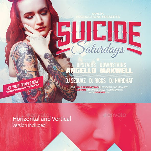 Suicide Saturdays Flyer Template