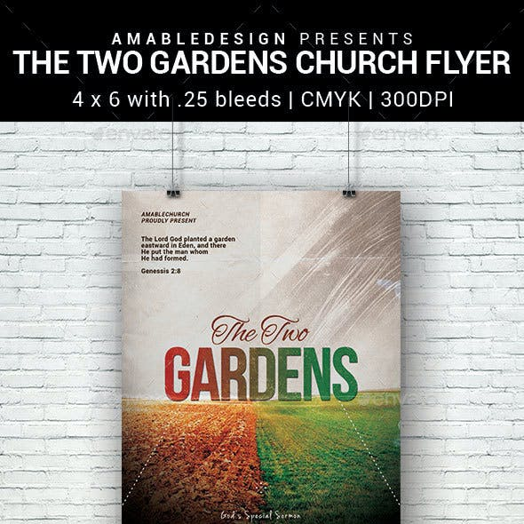 The Two Gardens Church Flyer