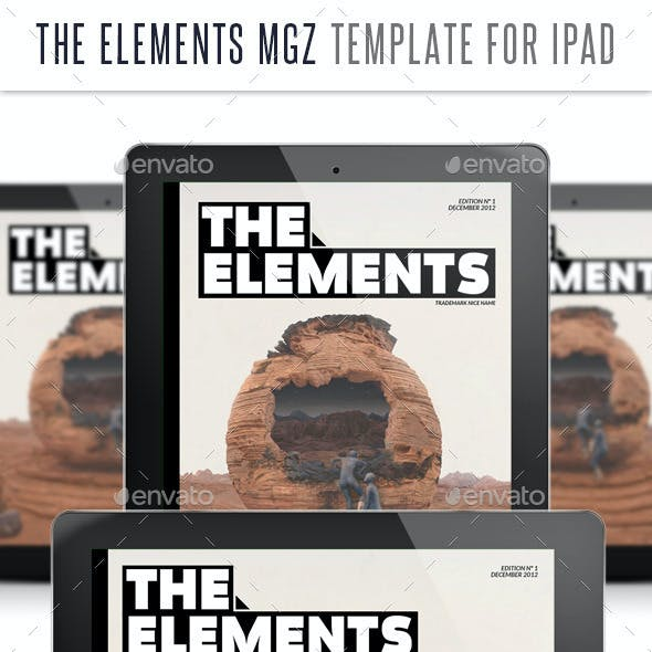 The Elements for Tablet Indesign Template