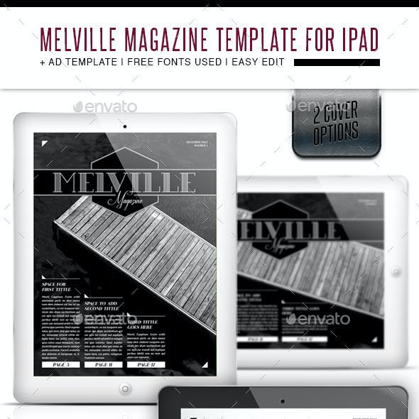 Melville Magazine for Tablet Indesign Template