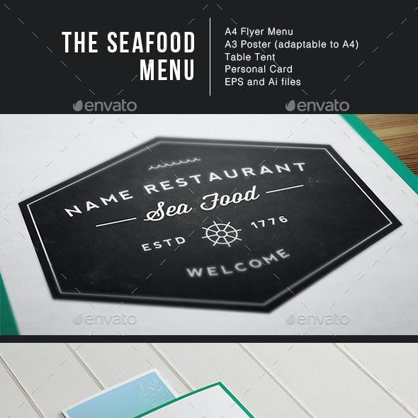 Sea Food Menu Identity Illustrator Template
