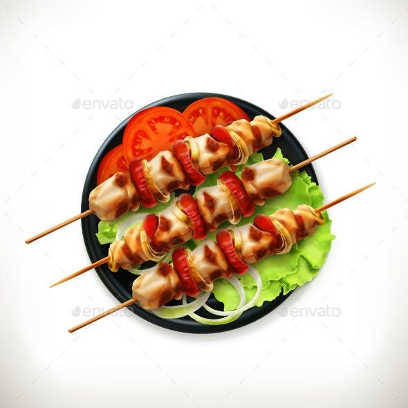 Shish Kebab on a Plate