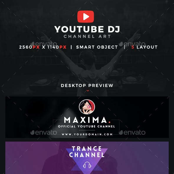 Youtube Dj Channel Art