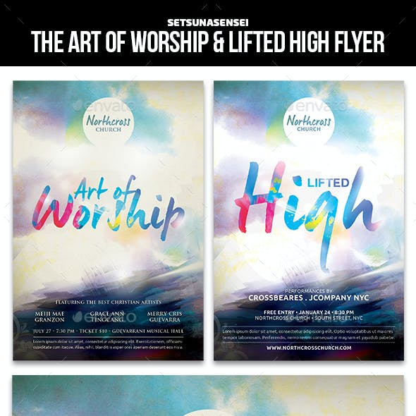 The Art of Worship & Lifted High Church Flyer