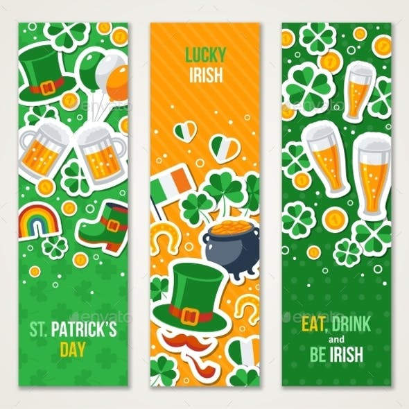 Banners for Patrick Day Celebration