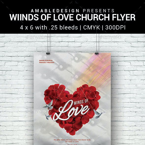 Winds of Love Church Flyer