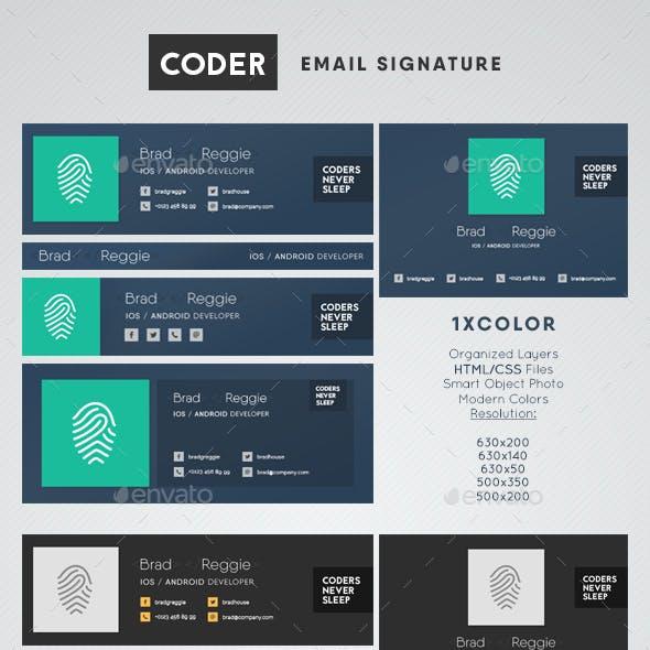 Coder Email Signature