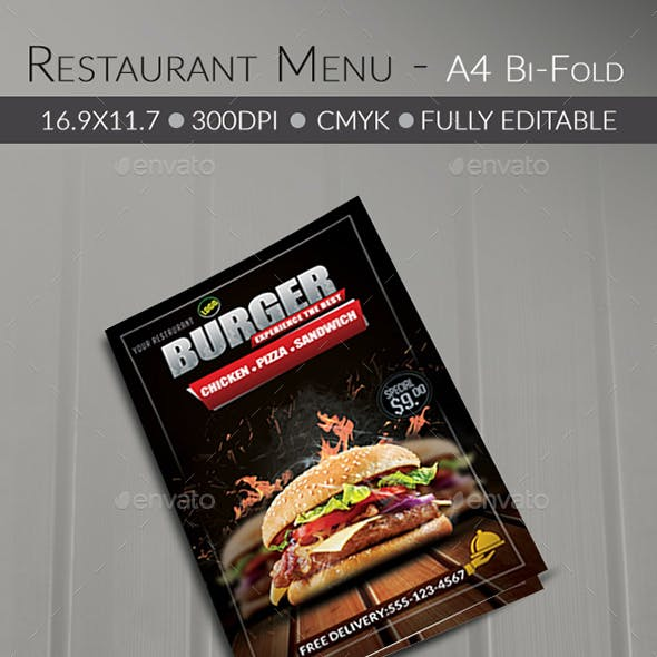 Food/ Burger Menu