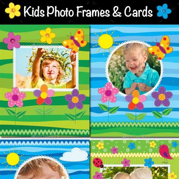 Kids Photo Frames, Invitations or Cards