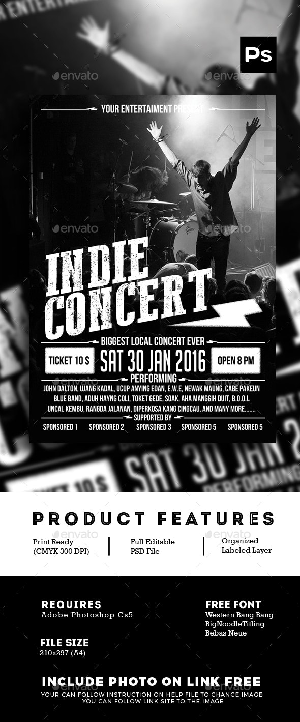 Indie Concert Poster Flyer - Events Flyers