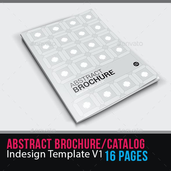 Abstract Brochure Catalog Indesign Template V1 – 16 Pages