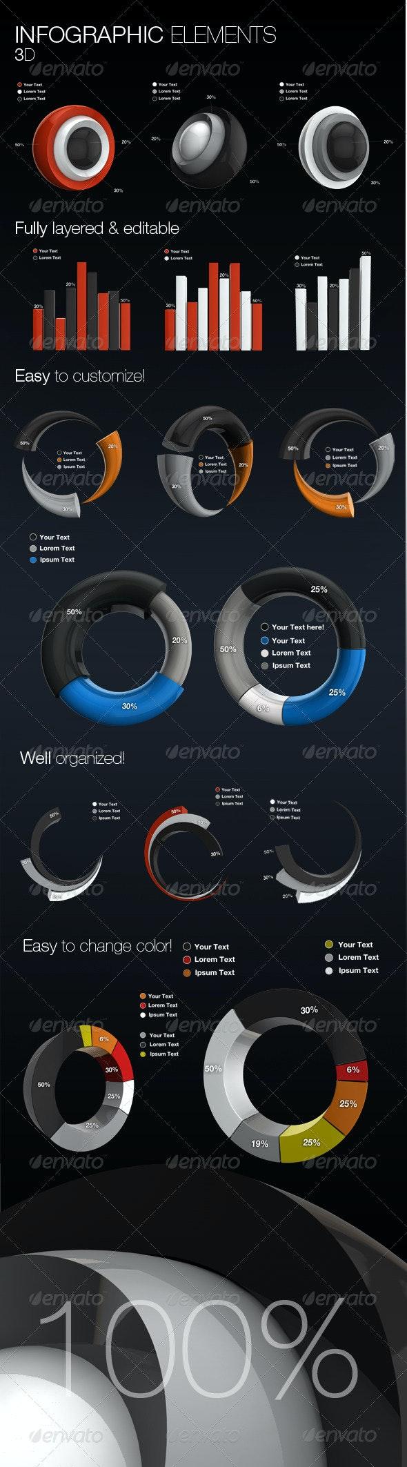 Infographic Elements 3D - Infographics