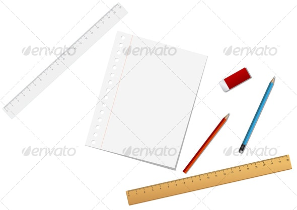 School and stationary tools - Man-made Objects Objects