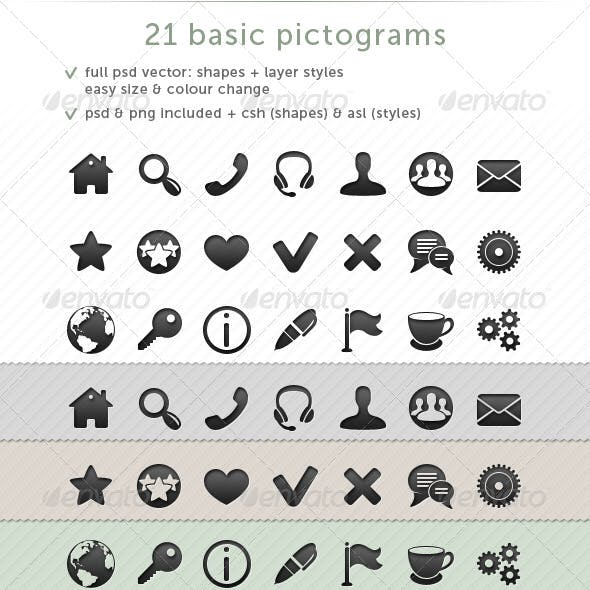 21 Basic Pictograms