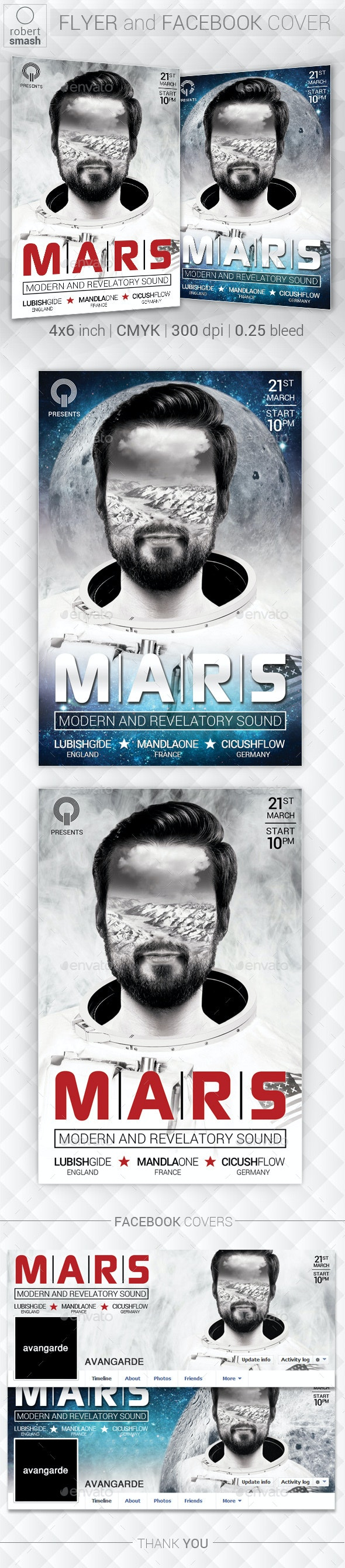 Mars Music Flyer - Clubs & Parties Events