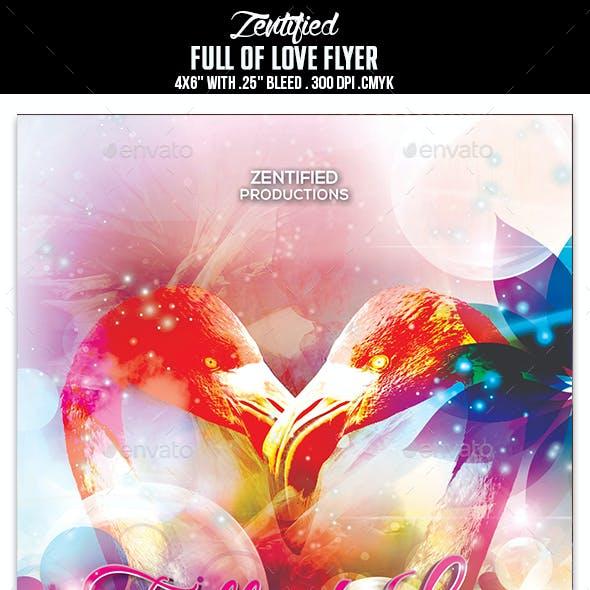 Full Of Love Flyer
