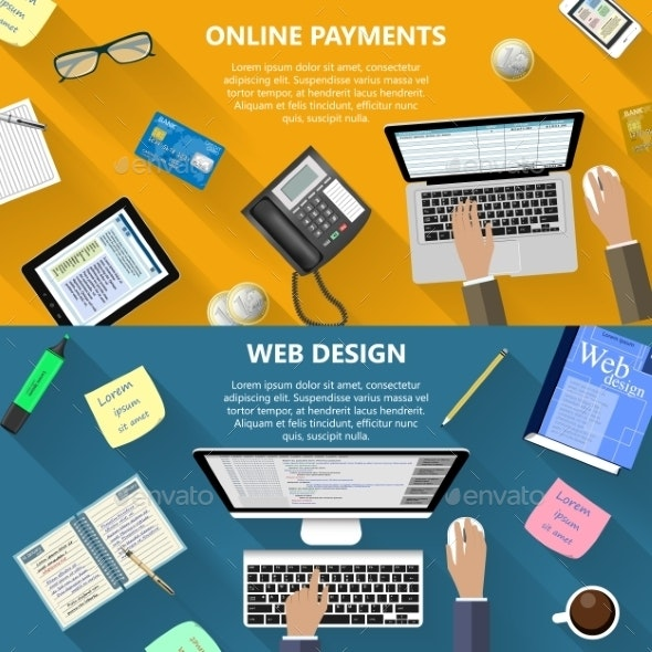 Web Design And Online Payments Concept