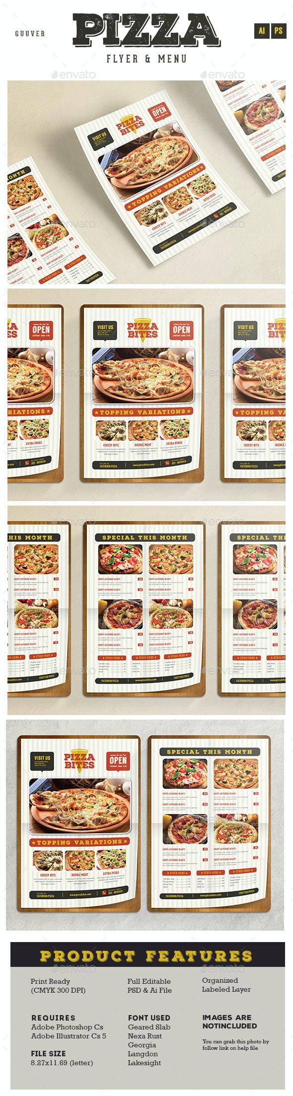 Pizza/Restaurant Menu/Flyer - Food Menus Print Templates