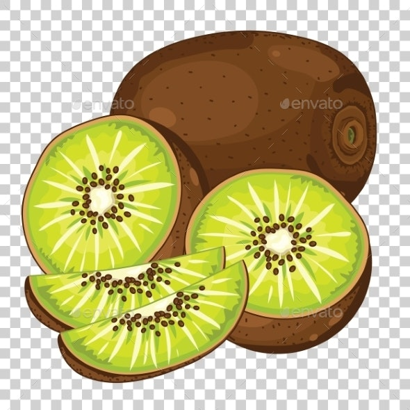 Kiwi Isolated, Vector. - Food Objects