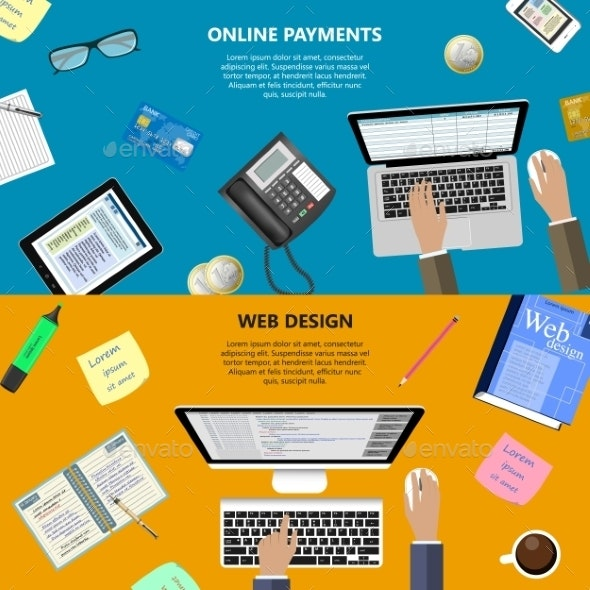 Web Design And Online Payments Concept - Computers Technology