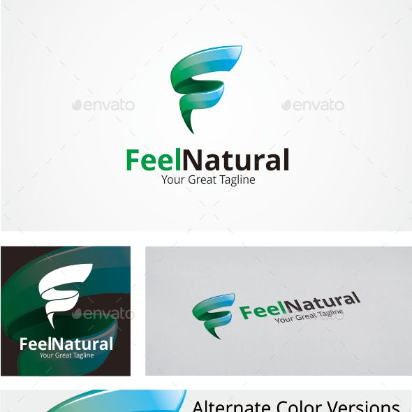 Letter F Logo / Feel Natural -  Logo Template