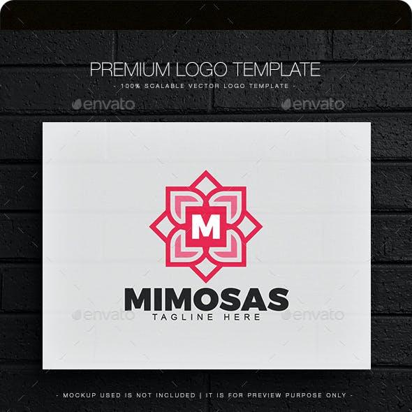 Mimosas Letter M Logo