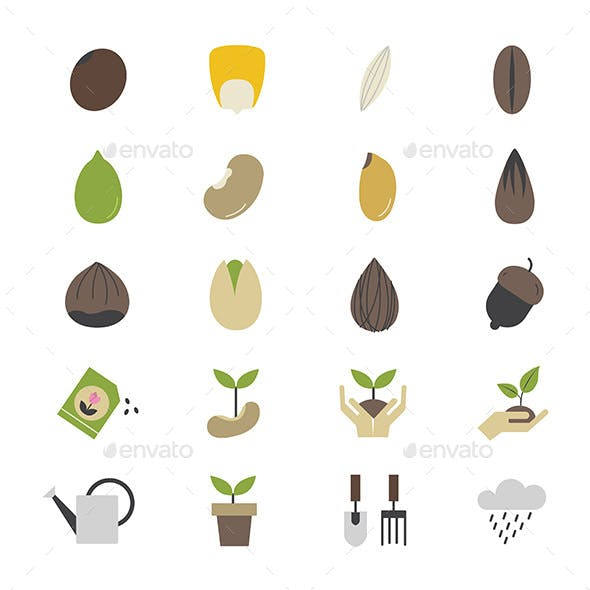 Seeds and Gardening Icons