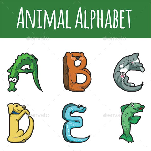 Animal Alphabet Letters A to M