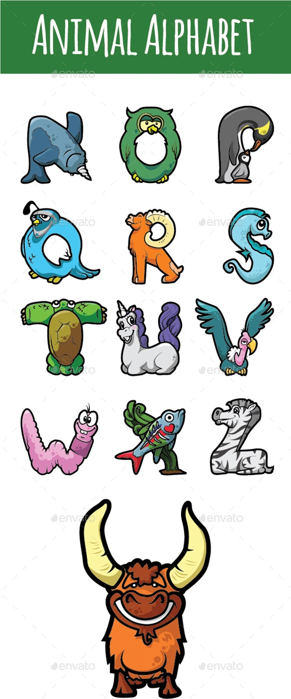 stickers alphabet animals from u to z stock vector.html