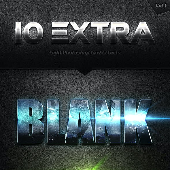 10 Extra Light Text Effects Vol.1