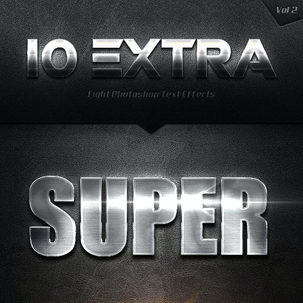 10 Extra Light Text Effects Vol.2