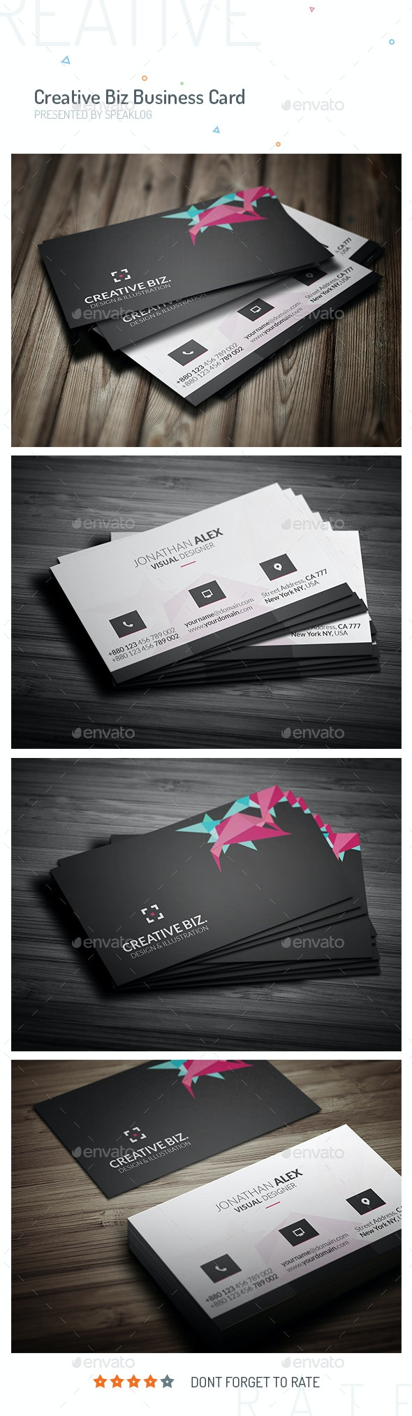 CreativeCard Business Card Design V.02 - Creative Business Cards