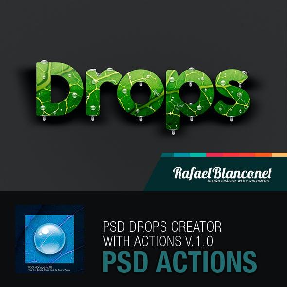 PSD - Water Drops Creator