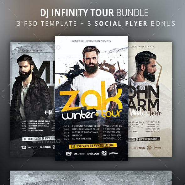 DJ Tour Flyer Bundle