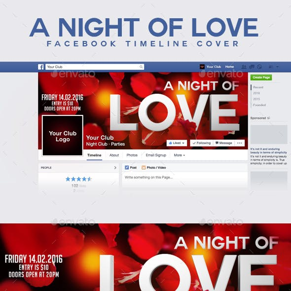 A Night Of Love FB Timeline Cover