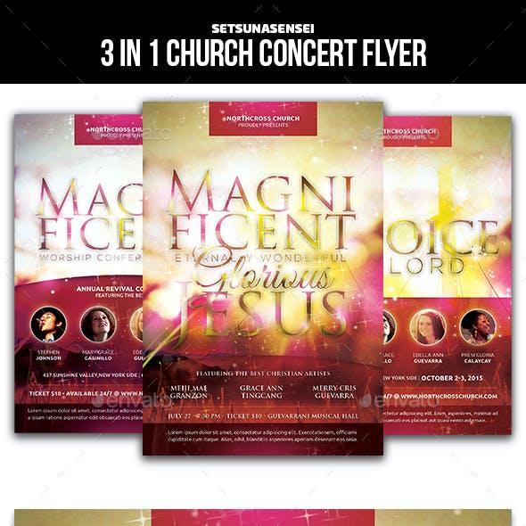 3 in 1 Church Concert Flyer