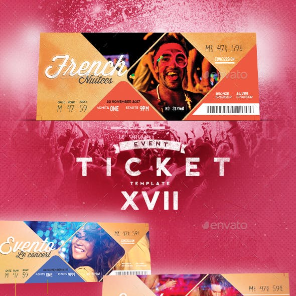 Event Tickets Template XVII
