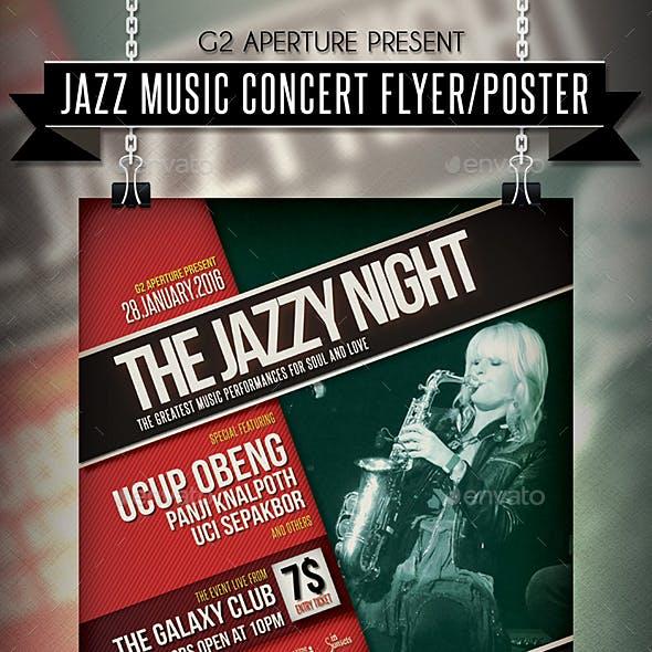 Jazz Music Concert Flyer / Poster