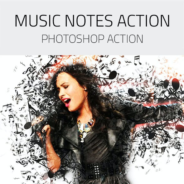 Music Notes Photoshop Action