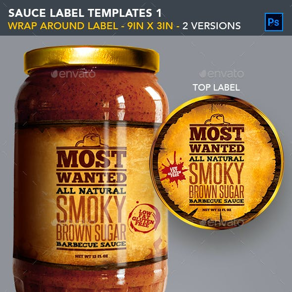 Sauce Jar Label Templates - Western