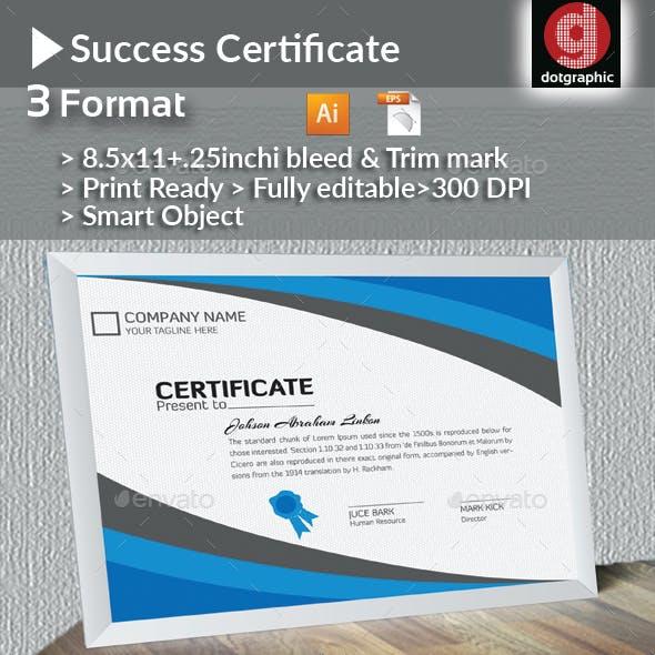 Success Certificate