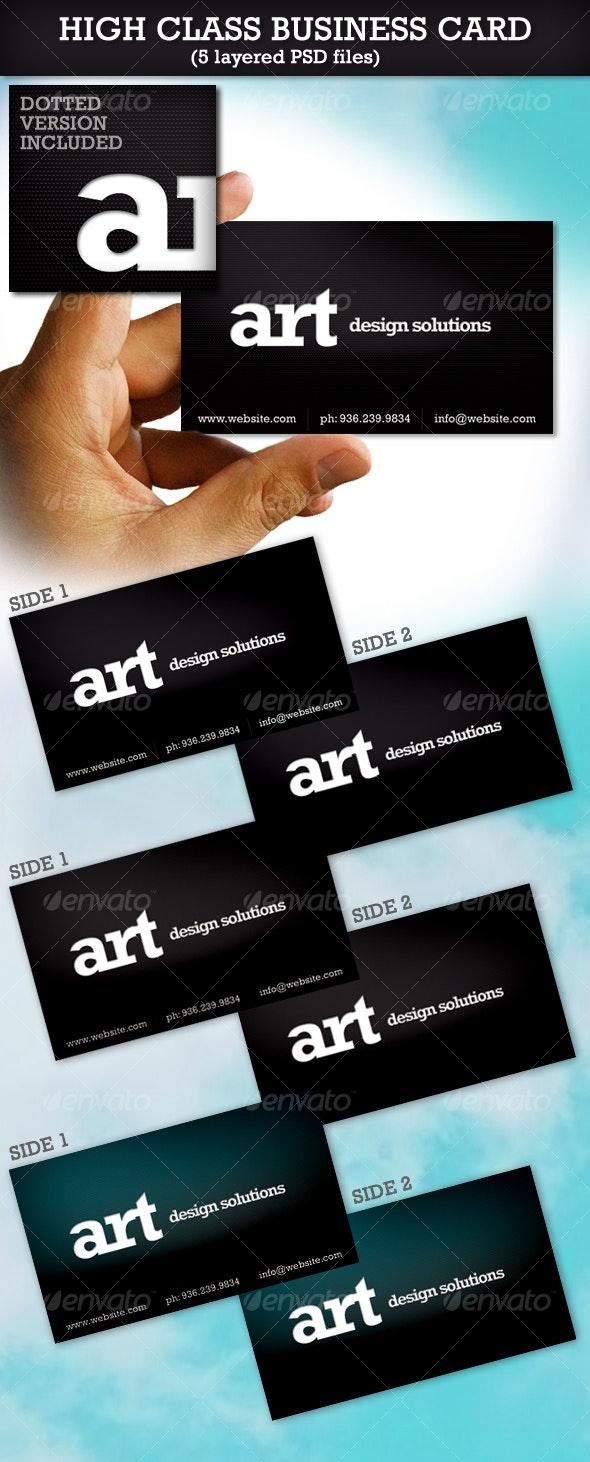 High Class Business Card - Creative Business Cards