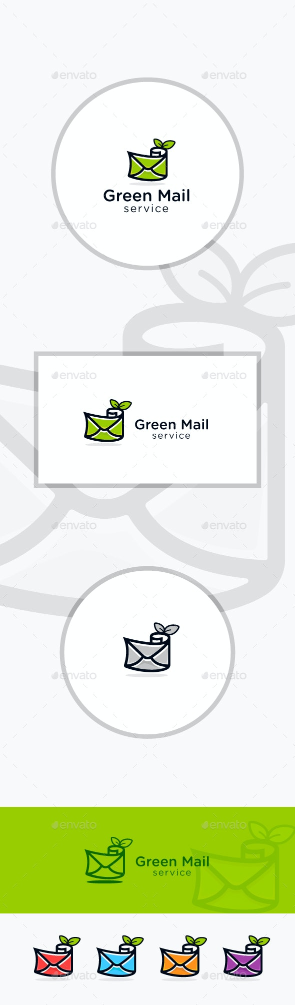 Green Mail - Symbols Logo Templates
