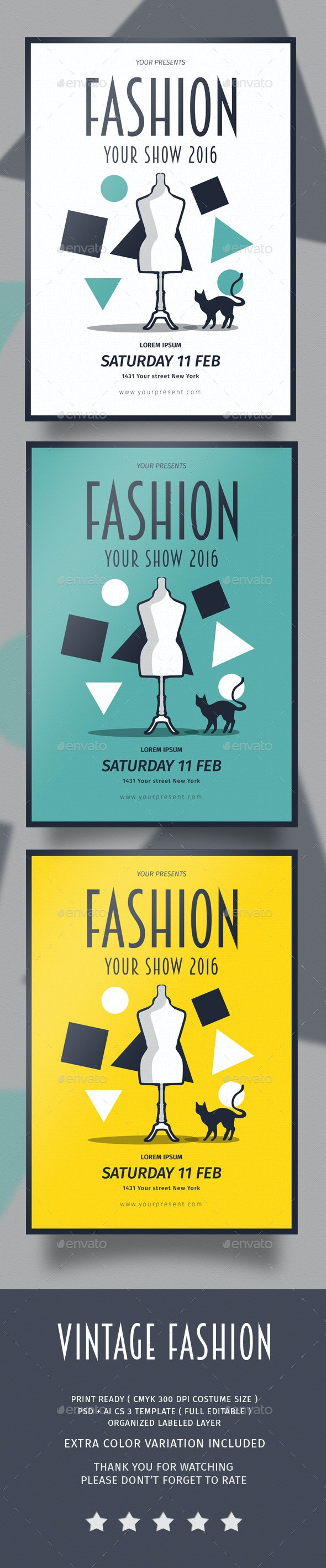 Vintage Fashion Flyer - Flyers Print Templates