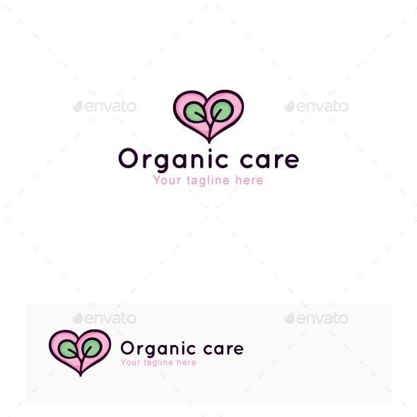 Organic Care - Nature Heart Stock Logo Template
