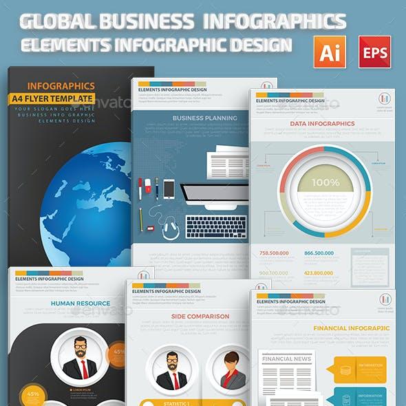 Global Business Infographics Design