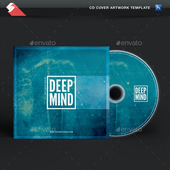 Deep Mind - CD Cover Artwork Template