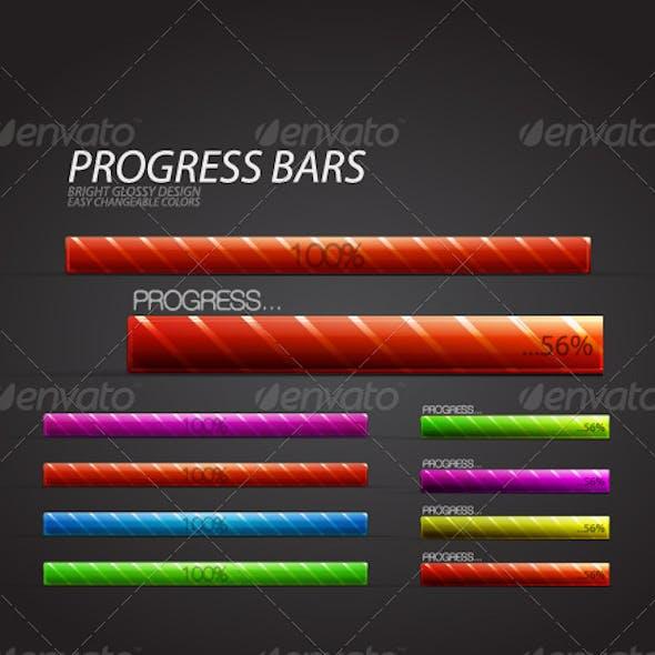 Glossy progress bar