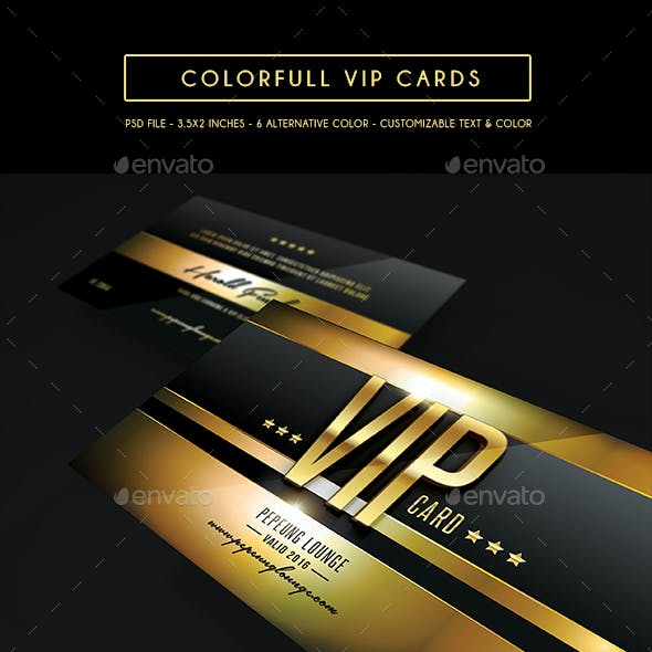 Multipurpose Colorfull Vip Card