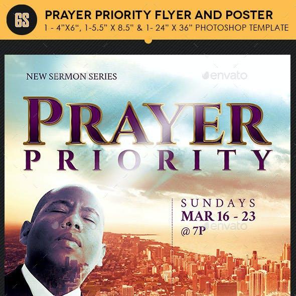 Prayer Priority Flyer Poster Template